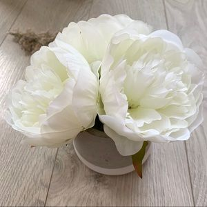 Other - White Peonies - Faux Flower Potted Arrangement